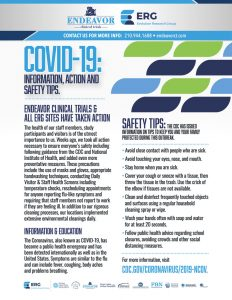COVID-19 Info Action Safety Tips