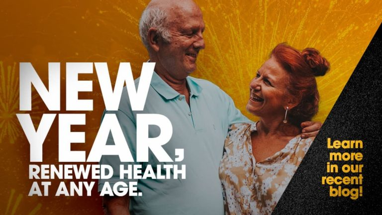 Older couple, new year, renewed health at any age, clinical trials, clinical research