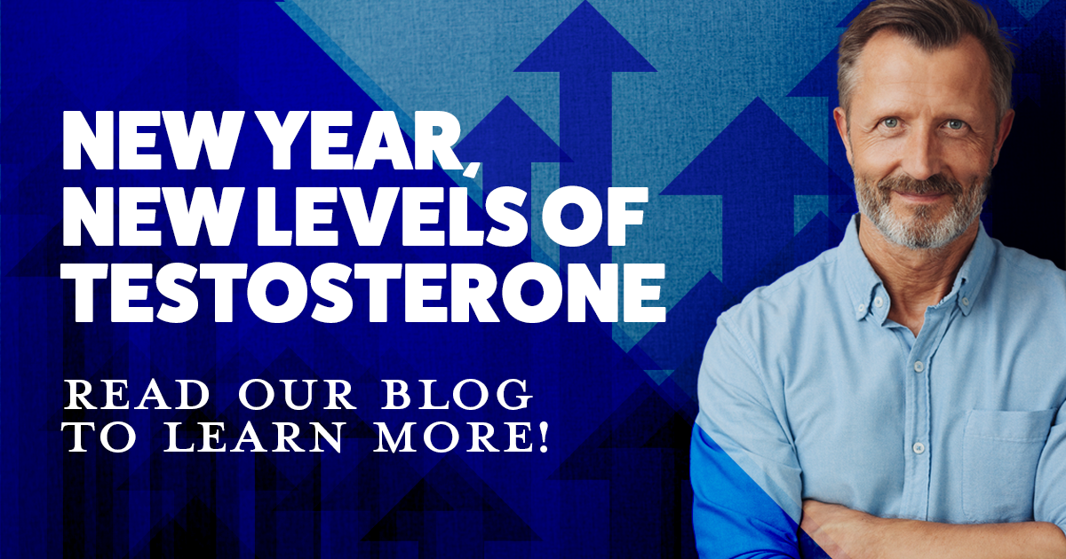 New year new levels of testosterone, low t, clinical research, older gentleman standing with arms crossed and smiling