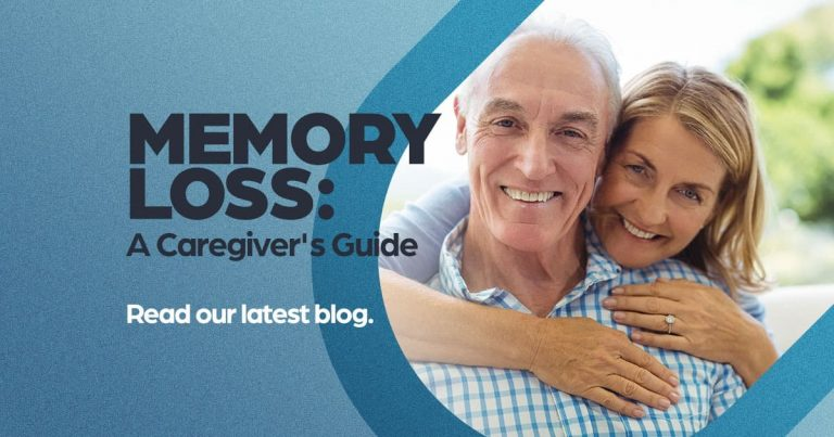 Memory Loss, A caregivers guide, older couple hugging and smiling, neurodegenerative research