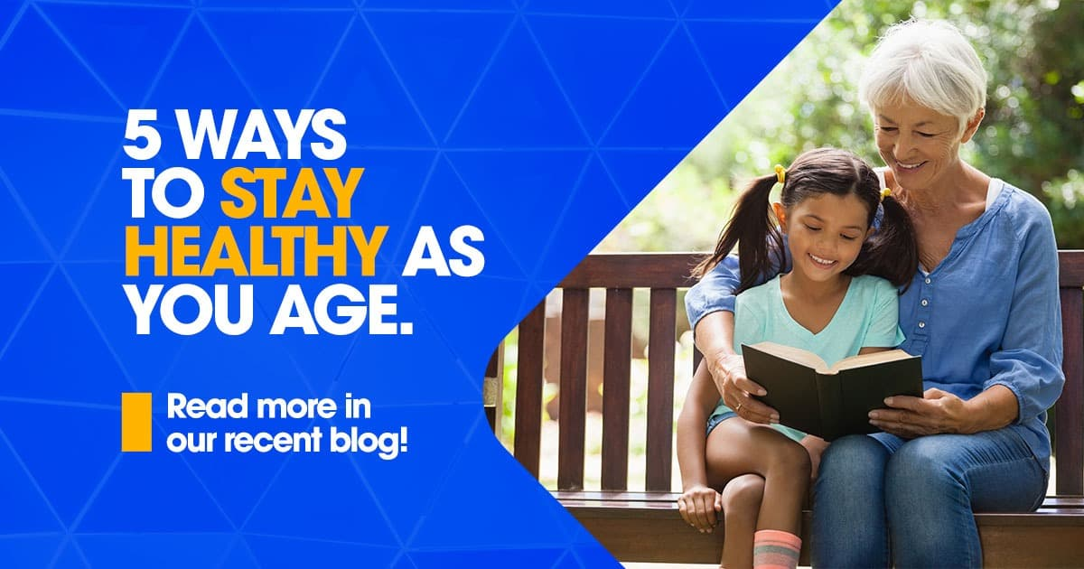 5 ways to stay healthy as you age, older white female reading to younger white female, research for seniors, clinical research